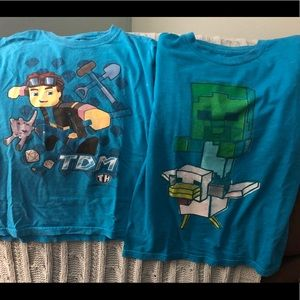 Boy's Dan TDM The Diamond Minecart Minecraft tees